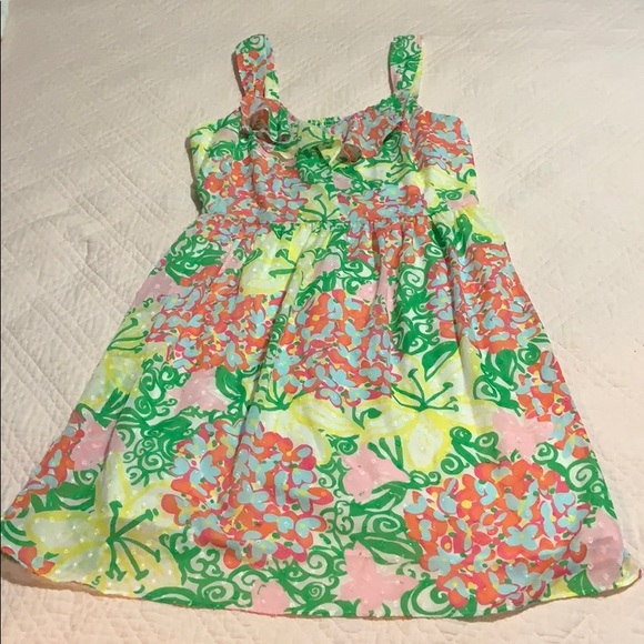 Lilly Pulitzer floral eyelet dress.